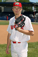 June 30th, 2007:  Clayton Long of the Batavia Muckdogs, Short-Season Class-A affiliate of the St. Louis Cardinals at Dwyer Stadium in Batavia, NY.  Photo by:  Mike Janes/Four Seam Images