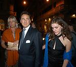 GINEVRA CAVALLETTI CARRASSI DE VILLAR CON MICHELE ALFANO<br /> INAUGURAZIONE PALAZZO FENDI ROMA 2005