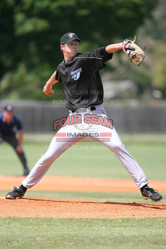 March 19th 2008:  Trystan Magnuson of the Toronto Blue Jays minor league system during Spring Training at the Raymond A. Naimoli Complex in St. Petersburg, FL.  Photo by:  Mike Janes/Four Seam Images