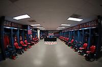 Carson, CA - Sunday January 28, 2018: USMNT locker room during an international friendly between the men's national teams of the United States (USA) and Bosnia and Herzegovina (BIH) at the StubHub Center.