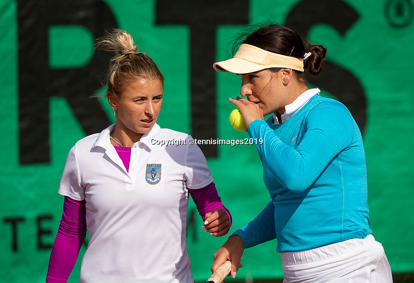 Zandvoort, Netherlands, 8 June, 2019, Tennis, Play-Offs Competition, Womans dubbles: Valentyna Ivakhnenko/Elitsa Kostova<br /> Photo: Henk Koster/tennisimages.com