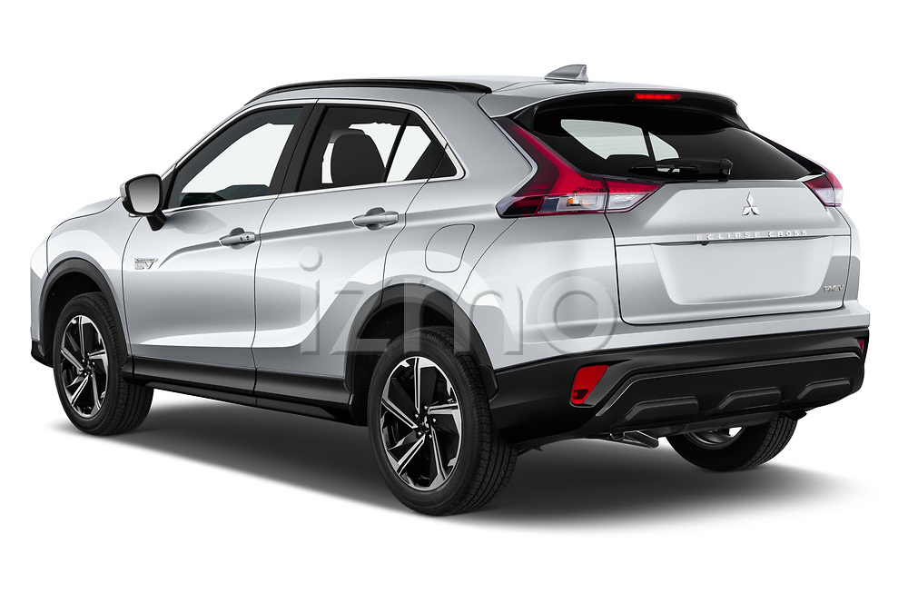 Car pictures of rear three quarter view of 2021 Mitsubishi Eclipse-Cross Invite 5 Door SUV Angular Rear