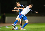 St Johnstone v Inverness Caley Thistle..29.12.12      SPL.Gary Warren tackles Rowan Vine.Picture by Graeme Hart..Copyright Perthshire Picture Agency.Tel: 01738 623350  Mobile: 07990 594431