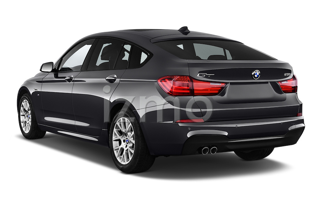 Car pictures of rear three quarter view of a 2015 BMW SERIES 5 M Sport 2WD AT 5 Door Hatchback 2WD Angular Rear