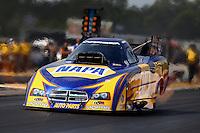 Aug. 18, 2013; Brainerd, MN, USA: NHRA funny car driver Ron Capps during the Lucas Oil Nationals at Brainerd International Raceway. Mandatory Credit: Mark J. Rebilas-