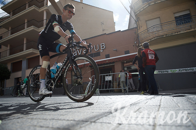 Nicolas Roche (IRL/SKY) on the way to sign-in<br /> <br /> stage 18: Roa - Riaza (204km)<br /> 2015 Vuelta à Espana