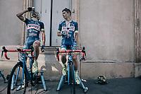 Guillaume Martin (FRA/Wanty-Groupe Gobert) & Marco Minnaard (NED/Wanty-Groupe Gobert) warming down after the stage<br /> <br /> 104th Tour de France 2017<br /> Stage 16 - Le Puy-en-Velay › Romans-sur-Isère (165km)