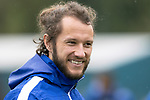 St Johnstone Training……26.08.20<br />Stevie May all smiles during training at McDiarmid Park ahead of Saturday's game against St Mirren.<br />Picture by Graeme Hart.<br />Copyright Perthshire Picture Agency<br />Tel: 01738 623350  Mobile: 07990 594431