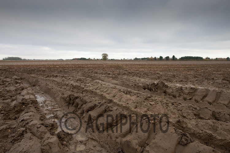 Water on a harvested potato field..Picture Tim Scrivener date taken 20th November 2012.mobile 07850 303986 e-mail tim@agriphoto.com.....covering agriculture in the Uk....