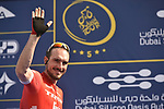 John Degenkolb (GER) Trek-Segafredo at sign on before the start of Stage 3 The Silicon Oasis Stage of the Dubai Tour 2018 the Dubai Tour's 5th edition, running 180km from Skydive Dubai to Fujairah, Dubai, United Arab Emirates. 7th February 2018.<br /> Picture: LaPresse/Fabio Ferrari   Cyclefile<br /> <br /> <br /> All photos usage must carry mandatory copyright credit (© Cyclefile   LaPresse/Fabio Ferrari)