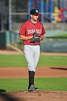 Idaho Falls Chukars starting pitcher Derek Gordon (21) delivers a pitch to the plate against the Ogden Raptors in Pioneer League action at Lindquist Field on August 27, 2015 in Ogden, Utah.Ogden defeated the Chukars 4-3.   (Stephen Smith/Four Seam Images)