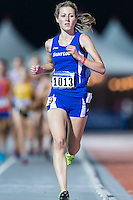 Annika Gomell of Saint Louis competes in 10000 meter semifinal during West Preliminary Track & Field Championships at John McDonnell Field, Thursday, May 29, 2014 in Fayetteville, Ark. (Mo Khursheed/TFV Media via AP Images)