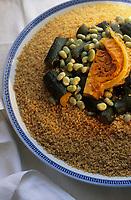 """Europe/France/Ile-de-France/Paris: Restaurant """"La Mansouria"""" - Service des couscous - Couscous vert  // Europe / France / Ile-de-France / Paris: Restaurant """"La Mansouria"""" - Couscous service - Green couscous"""
