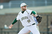 Starting pitcher Tyler Barnette #18 of the Charlotte 49ers in action against the Tennessee Tech Golden Eagles at Robert and Mariam Hayes Stadium on March 8, 2011 in Charlotte, North Carolina.  Photo by Brian Westerholt / Four Seam Images
