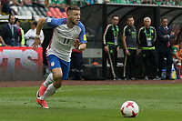 Mexico City, Mexico - Saturday June 10, 2017: Paul Arriola during a 2018 FIFA World Cup Qualifying Final Round match between the men's national teams of the United States (USA) and Mexico (MEX) at Azteca Stadium.