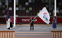 5th September 2021; Tokyo, Japan, 2020 Paralympic Games, closing ceremony:  Andrew Parsons president of the International Paralympic Committee IPC, waves the Paralympic flag during the closing ceremony