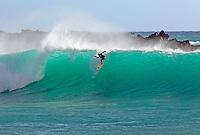 Beautiful backlit wave at Makena, Maui, Hawaii.