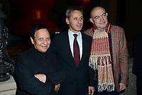 Azzedine Alaïa et Christian Lacroix à l'exposition inaugurale Paul Mc Carthy à la Monnaie de Paris le 23 Octobre 2014