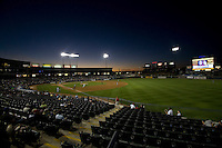 Sunset on Monday April 11th, 2011 at Dell Diamond in Round Rock Texas.  (Photo by Andrew Woolley / Four Seam Images)