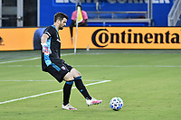 KANSAS CITY, KS - SEPTEMBER 02: Jimmy Maurer #20 of FC Dallas passes the ball during a game between FC Dallas and Sporting Kansas City at Children's Mercy Park on September 02, 2020 in Kansas City, Kansas.