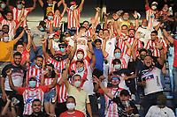 BARRANQUILLA - COLOMBIA, 18-09-2021: Atlético Junior  y Atlético Nacional en partido por la fecha 10 como parte de la Liga BetPlay DIMAYOR II 2021 jugado en el estadio Metropolitano Roberto Meléndez de la ciudad de Barranquilla. / Atletico Junior and Atletico Nacional in match for the date 10 as part of the BetPlay DIMAYOR League II 2021 played at Metropolitano Roberto Melendez stadium in Barranquilla city. Photo: VizzorImage / Jesús Rico / Contribuidor