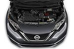 Car stock 2019 Nissan Versa-Note SV 5 Door Hatchback engine high angle detail view