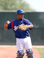 Tomas Telis / Texas Rangers 2008 Instructional League..Photo by:  Bill Mitchell/Four Seam Images