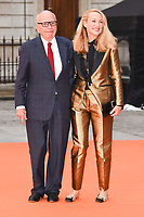Rupert Murdoch and Jerry Hall<br /> at the Royal Acadamy of Arts Summer Exhibition opening party 2017, London. <br /> <br /> <br /> ©Ash Knotek  D3276  07/06/2017