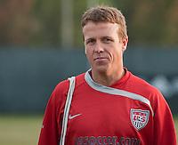 John Hackworth. U.S. Men's National Team training at RFK Stadium  Monday October 12, 2009  in Washington, D.C.