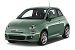 2016 Fiat 500 Sport 3 Door Hatchback Angular Front stock photos of front three quarter view
