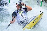 5th September 2021; Parc Olimpic del Segre, La Seu D'Urgell ICF Slalom World Cup, Men's Canoe Final;  Alexander Slafkovsky (SVK)