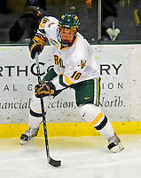 3 January 2009: University of Vermont Catamount forward Colin Vock, a Junior from Detroit, MI, in action against the St. Lawrence Saints during the championship game of the Catamount Cup Ice Hockey Tournament at Gutterson Fieldhouse in Burlington, Vermont. The Cats defeated the Saints 4-0 and won the tournament for the second time since its inception in 2005...Mandatory Photo Credit: Ed Wolfstein Photo