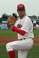 July 26, 2003:  pitcher Brad Overton of the Batavia Muckdogs during a game at Dwyer Stadium in Batavia, New York.  Photo by:  Mike Janes/Four Seam Images