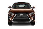 Car photography straight front view of a 2018 Lexus RX 350 5 Door SUV Front View
