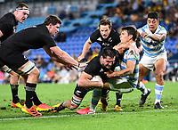 12th September 2021; Cbus Super Stadium, Robina, Queensland, Australia; Rugby International series, New Zealand versus Argentina:  Luke Jacobson try.