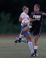 New York Fury substitute forward Gina DiMartino (12) attempts to control the ball. In a Women's Premier Soccer League Elite (WPSL) match, the Boston Breakers defeated New York Fury, 2-0, at Dilboy Stadium on June 23, 2012.