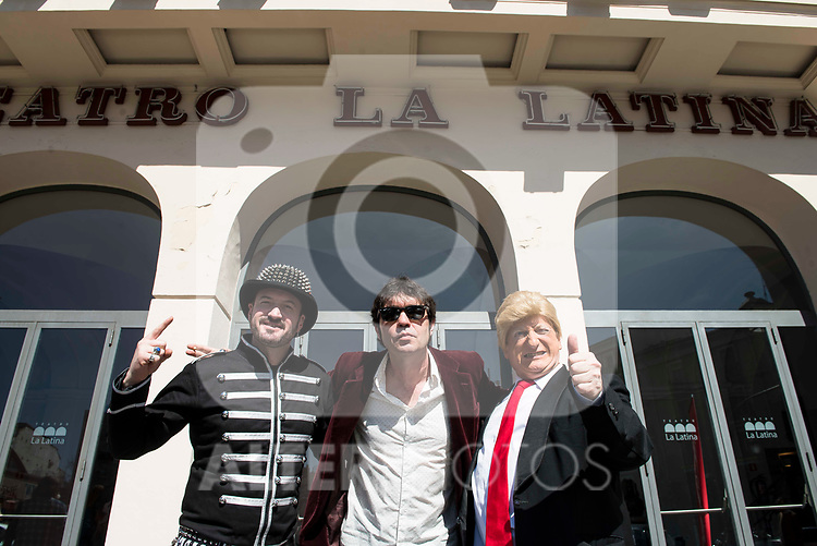 "Álex O'Dogherty, Lichis and Javier Gurruchaga during the presentation of the family cycle ""Matinal Estelar"" at Teatro La Latina in Madrid. March 09, 2017. (ALTERPHOTOS/Borja B.Hojas)"