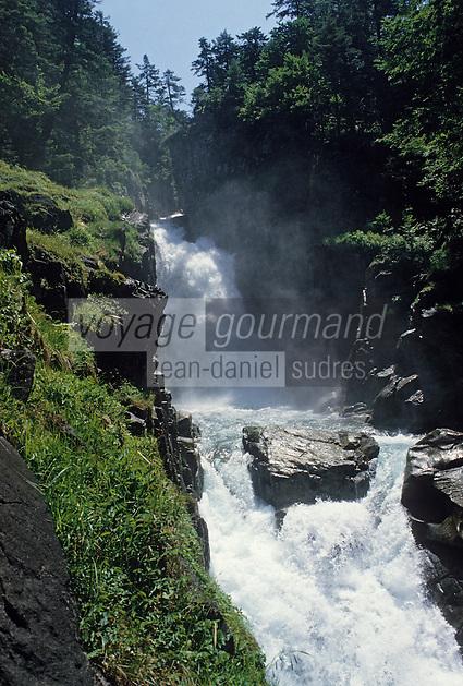 Europe/France/Midi-Pyrénées/65/Hautes-Pyrénées/Parc National des Pyrénées/Env Cauterets: Cascade des Bousses