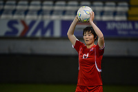 20190304 - LARNACA , CYPRUS : Korean Jon So Yon pictured during a women's soccer game between Finland and Korea DPR , on Monday 4 March 2019 at the Antonis Papadopoulos Stadium in Larnaca , Cyprus . This is the third game in group A for Both teams during the Cyprus Womens Cup 2019 , a prestigious women soccer tournament as a preparation on the Uefa Women's Euro 2021 qualification duels. PHOTO SPORTPIX.BE | STIJN AUDOOREN