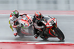 Marco Melandri (33) and Danilo Petrucci (9) in action during the first practice session of the Red Bull Grand Prix of the Americas race at the Circuit of the Americas racetrack in Austin,Texas.