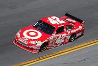 Feb 07, 2009; Daytona Beach, FL, USA; NASCAR Sprint Cup Series driver Juan Pablo Montoya during practice for the Daytona 500 at Daytona International Speedway. Mandatory Credit: Mark J. Rebilas-