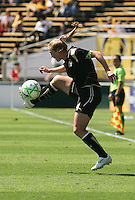 Rachel Buehler kicks the ball. FC Gold Pride defeated Washington Freedom 3-2 at Buck Shaw Stadium in Santa Clara, California on August 1, 2009.