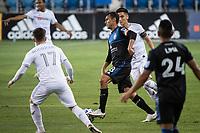 SAN JOSE, CA - NOVEMBER 04: Chris Wondolowski #8 of the San Jose Earthquakes dribbles the ball during a game between Los Angeles FC and San Jose Earthquakes at Earthquakes Stadium on November 04, 2020 in San Jose, California.