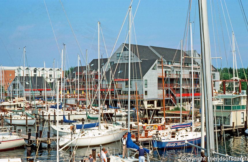 Annapolis:  Yacht Basin and new shopping center.  Photo '85.