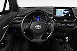 Car pictures of steering wheel view of a 2018 Toyota C-HR C-LUB 5 Door SUV