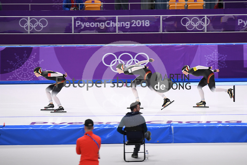 OLYMPIC GAMES: PYEONGCHANG: 19-02-2018, Gangneung Oval, Long Track, Team Pursuit Ladies, Team Germany, ©photo Martin de Jong