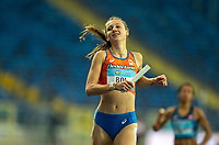 1st May 2021; Silesian Stadium, Chorzow, Poland; World Athletics Relays 2021. Day 1; Femke Bol smiles after winning heat for the Dutch team in the ladies 4 x 400