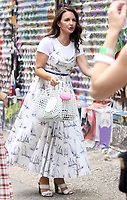 NEW YORK, NY - July 20: Kristin Davis on the set of the HBOMax Sex and the City reboot series And Just Like That on July 20, 2021 in New York City. Credit: RW/MediaPunch