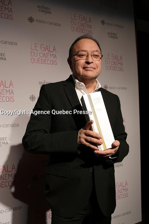 at the Gala du cinema Quebecois.<br /> <br /> Photo : Pierre Roussel - Agence Quebec Presse