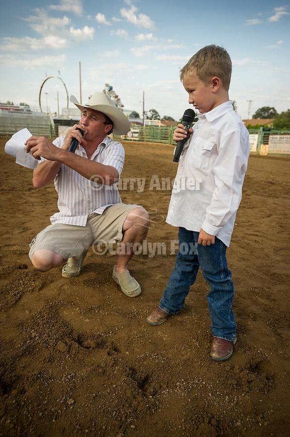Kids' Mutton Bustin' trials at the 75th Amador County Fair, Plymouth, Calif.<br /> <br /> Seth Seever & Brady Blake